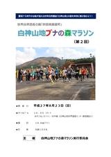 藤里町「白神山地ブナの森マラソン」2015