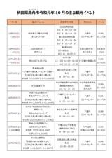 鹿角市「秋田県鹿角市10月の主なイベント」2019
